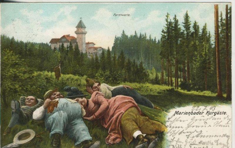 Marienbad v. 1903  Forstwarte & Marienbader Kurgäste  (45330)