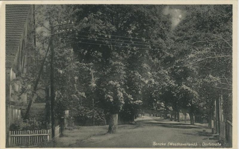 Senzke v. 1936  Die Dorfstrasse  (45343)
