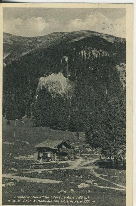 Mittenwald v. 1936  Krinner Kofler Hütte  (45344)