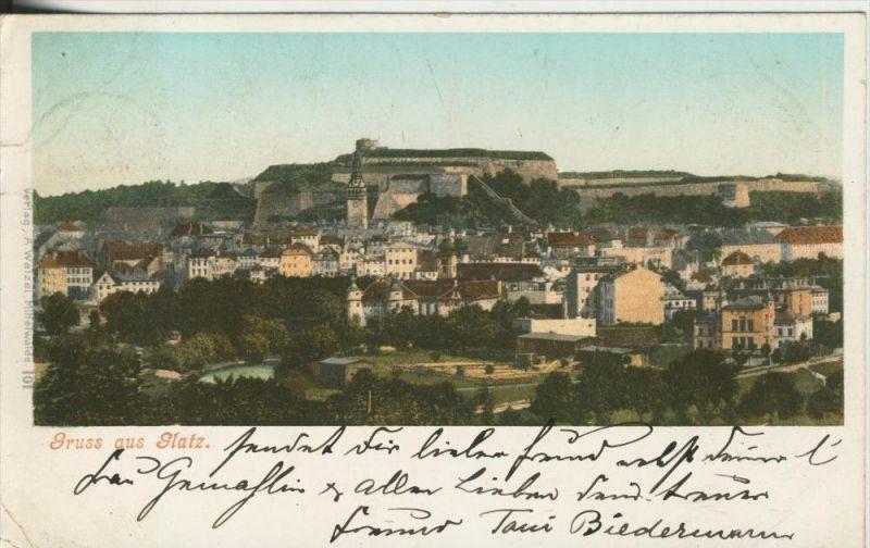 Gruss aus Glatz v. 1899  Teil-Stadt-Ansicht  (45349)
