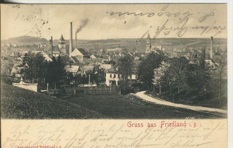 Friedland i. B. v. 1902  Total Stadt Ansicht  (45355)