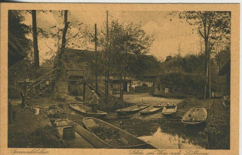 Lehde / Spreewald v. 1929  Lehde am Wege nach Lübbenau (45363)