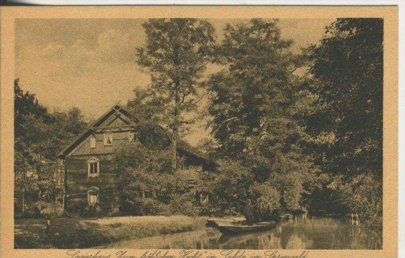 Lehde / Spreewald v. 1929  Zum fröhlichen Hecht  (45364)