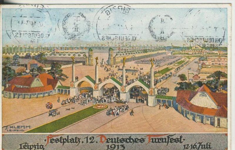 Leipzig v. 1913  Festplatz -- 12. Deutsches Turnfest  (45368)