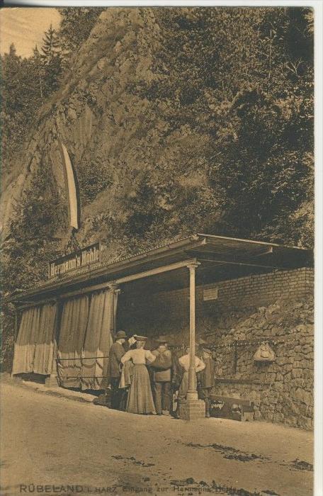 Rübeland / Harz v. 1909  Eingang zur Hermanns Höhle  (45370)