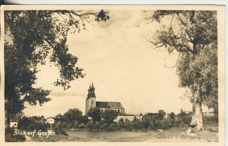Gnesen v. 1943  Blick auf die Stadt  (45374)