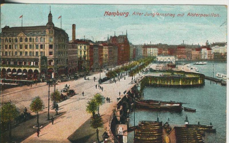 Hamburg v. 1910  Alter Jungfernstieg  (45534-SH)