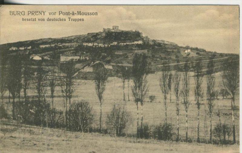 Pont a Mousson v. 1916 Burg Preny ist besetzt von deutschen Truppen  (45487)