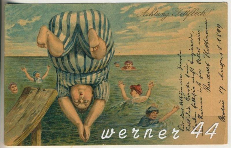Beim Baden v. 1899