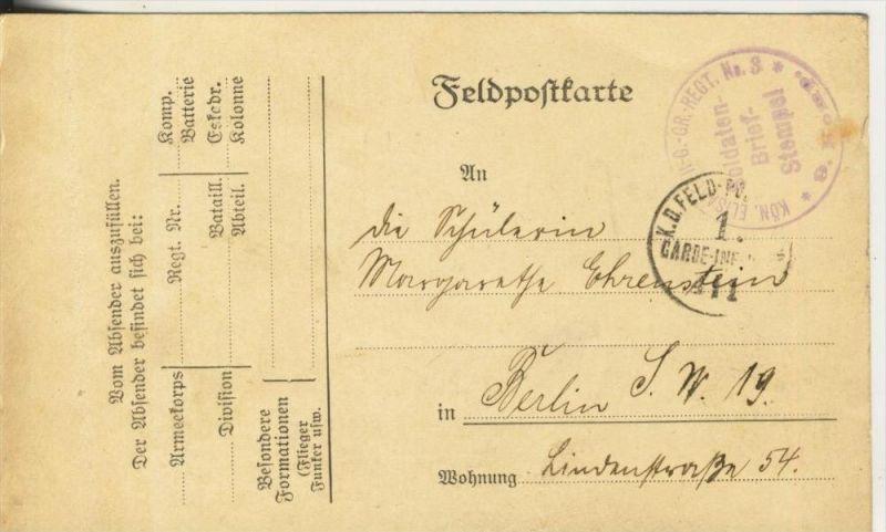 1. Weltkrieg v. 1915  Feldpostkarte   (45638)
