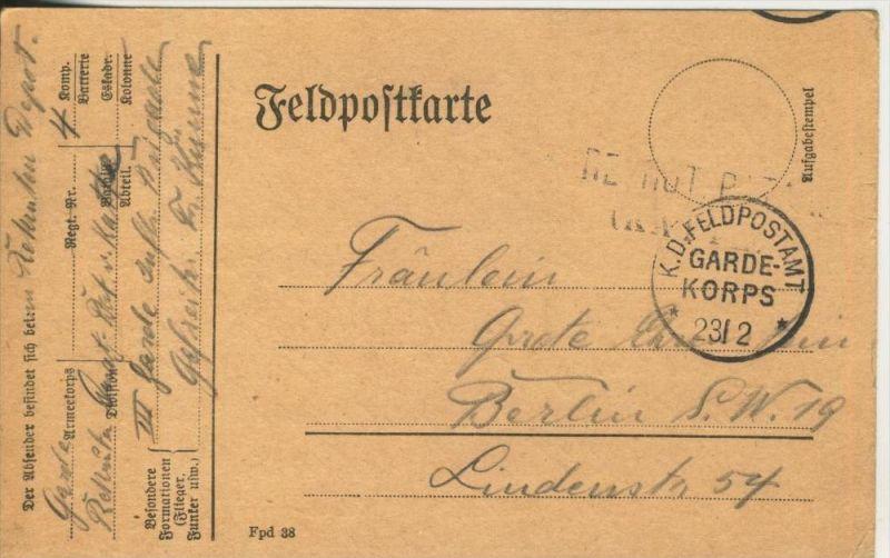 1. Weltkrieg v. 1915  Feldpostkarte   (45639)