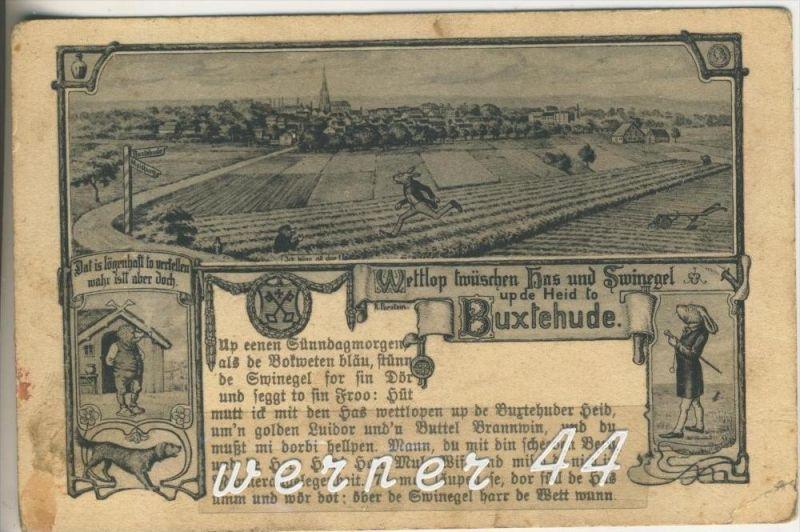 Buxtehude v. 1936 Wettlauf zwischen Hase und Igel (3159)