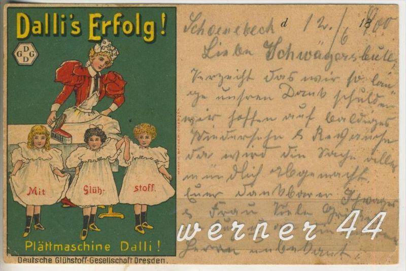 Dresden v.1900.Deutsche Glühstoff-Gesellschaft Dresden -- Plättmaschine Dalli.v.1900 (3370)