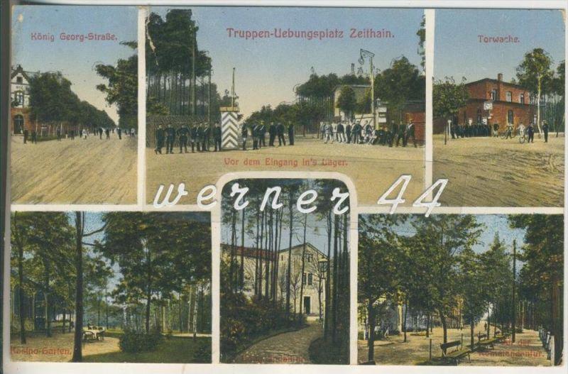 Zeithain v.1915 Truppen-Übungs-Platz -- 6 Ansichten (3449)