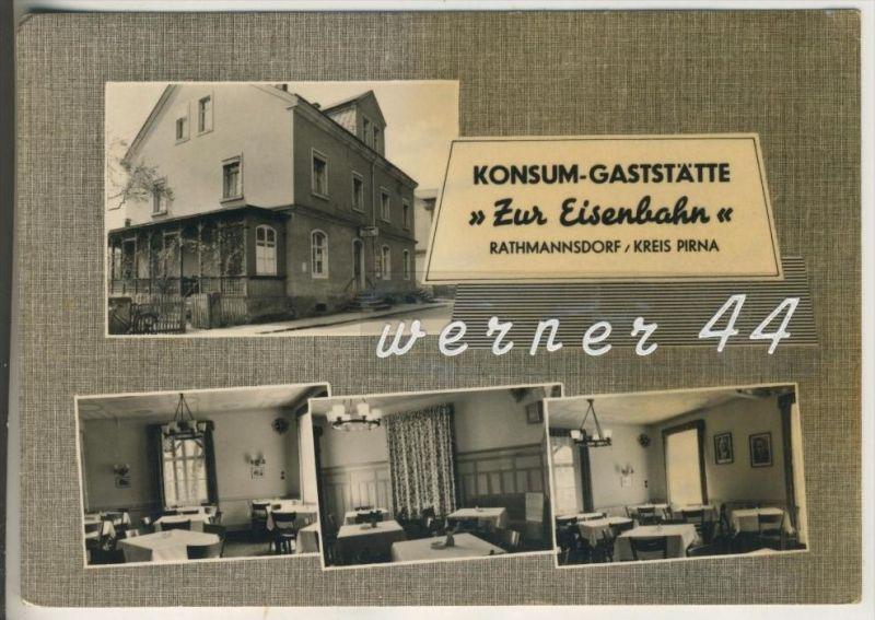 Rathmannsdorf, Kreis Pirna v.1963 Kosum-Gaststätte