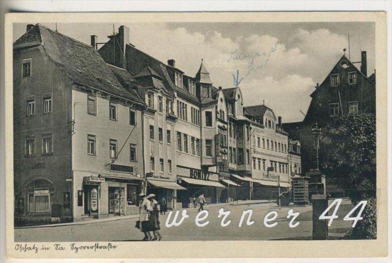 Oschatz v.1936 Radio Steiger,Bonitz,Gasthaus, Geschäft Ernst Fritsch,Restaurant Altmark,Telefonzelle (3528)
