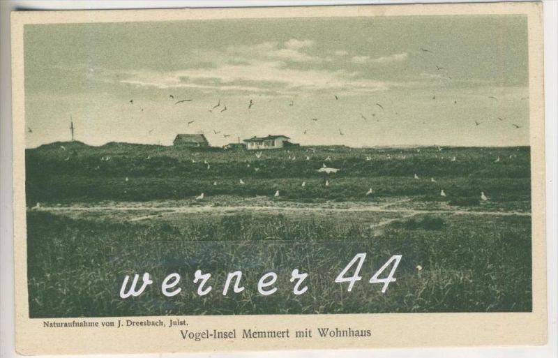 Memmert v.1929  Vogel- Insel & Wohnhaus (4951)