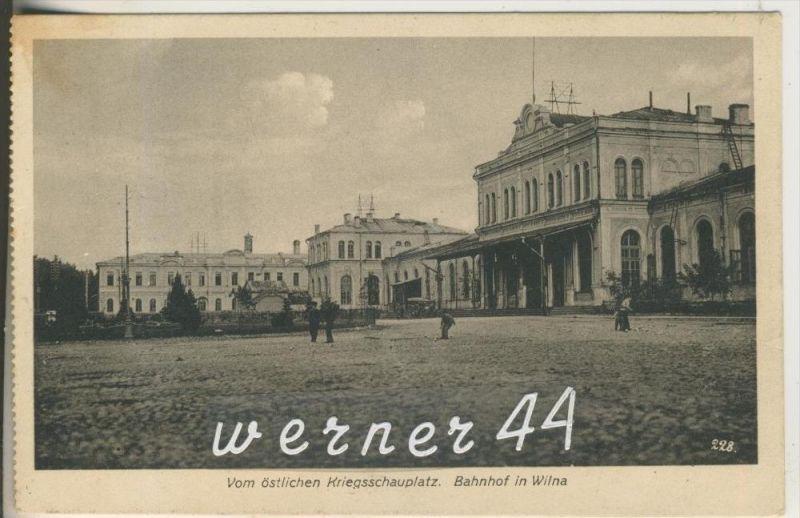 Wilna v.1916  Der Bahnhof (9309)
