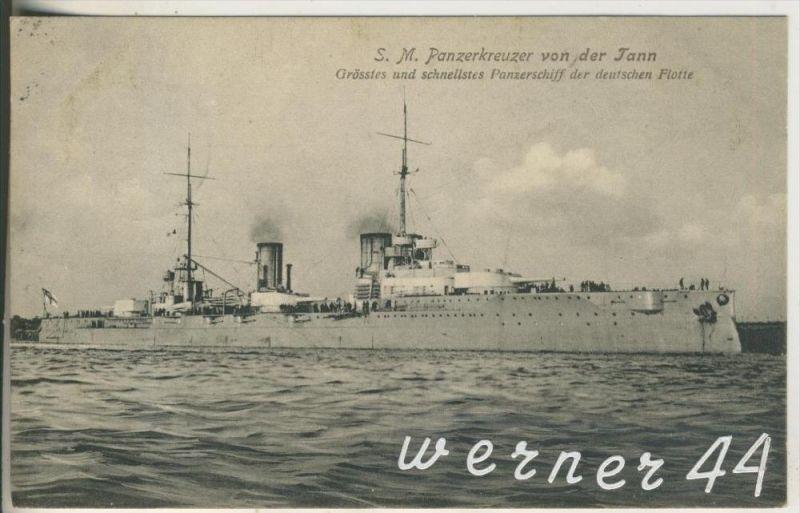 S. M. Panzerschiff von Tann v.1910  Größtes und schnellstes Panzerschiff der deutschen Flotte  (11636)