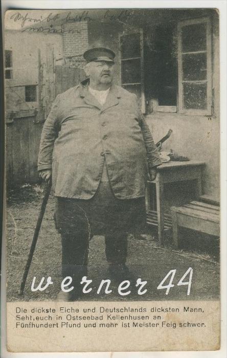 Kellenhusen v.1927 Meister Feig -- Der dickste Mann (13395)