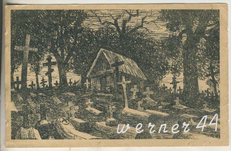 Wulka v.1916 Friedhof bei Wulka  (13887)