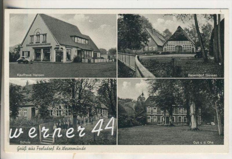 Gruss aus Feelsdorf v.1954 Kaufhaus Hansen,Bauernhof Tienken,Schule,Gut von der Ohe  (13891)