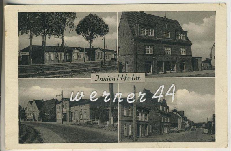 Innien v.1953  Bahnhof,Kaufhaus,Dorfstrase mit Geschäft,Dorfstrasse mit Geschäfte (14688)