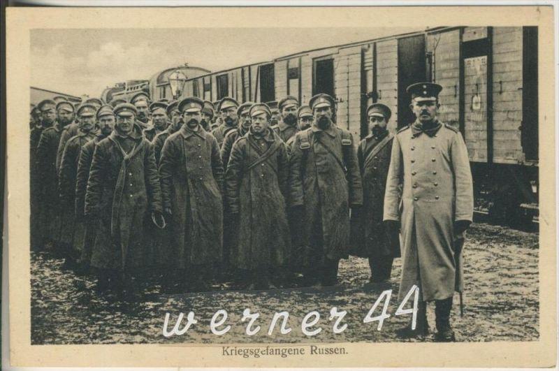 Zug mit Kriegegefangene Russen v.1916 (15121)