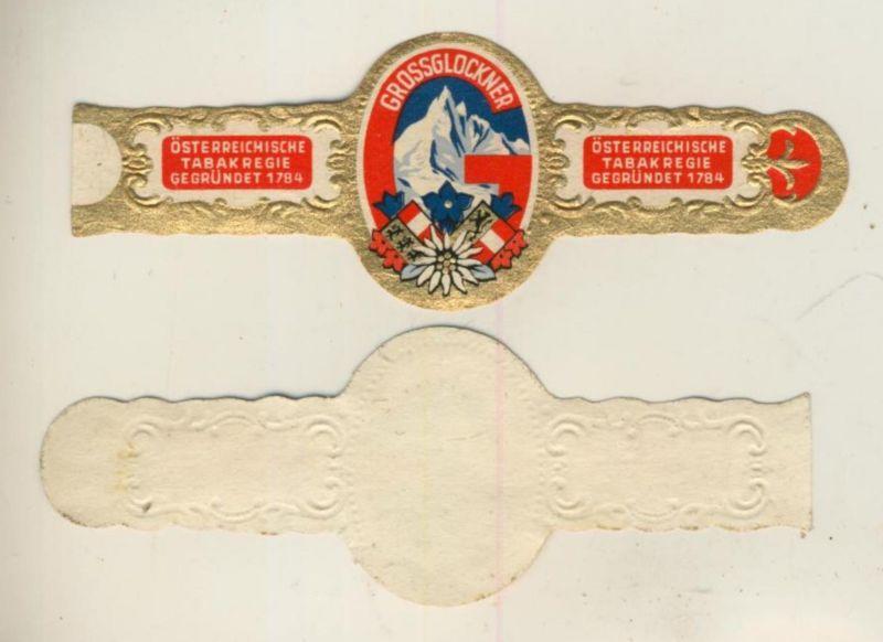 Grossglöckner - Österreichische Tabakregie seit 1784 - Zigarrenbauchbinde  (51719)