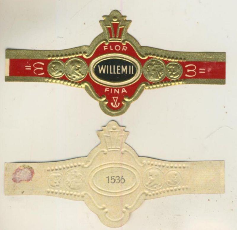Willem II- Zigarrenbauchbinde - Flor Fina- 3 Glodmedaillien (51725)