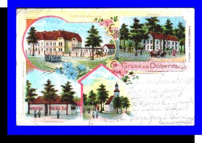 Gruss aus  Döberitz v.1901 4 Ansichten (1359)