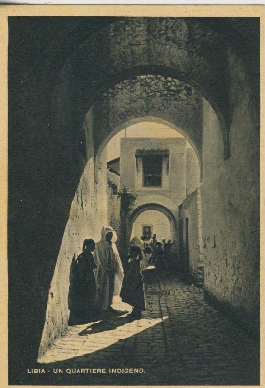 Libia / Libyen v. 1938  Un Quartiere insigeno  (52808)