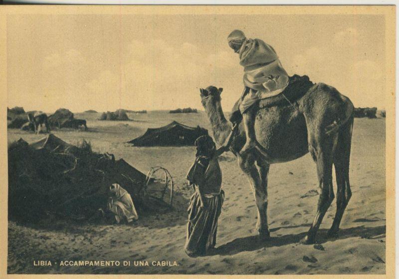 Libia / Libyen v. 1938 Accampamento di una Cabila   (52811)