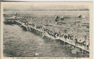 Arcachon v. 1934  Brücke am Strand  (53041)