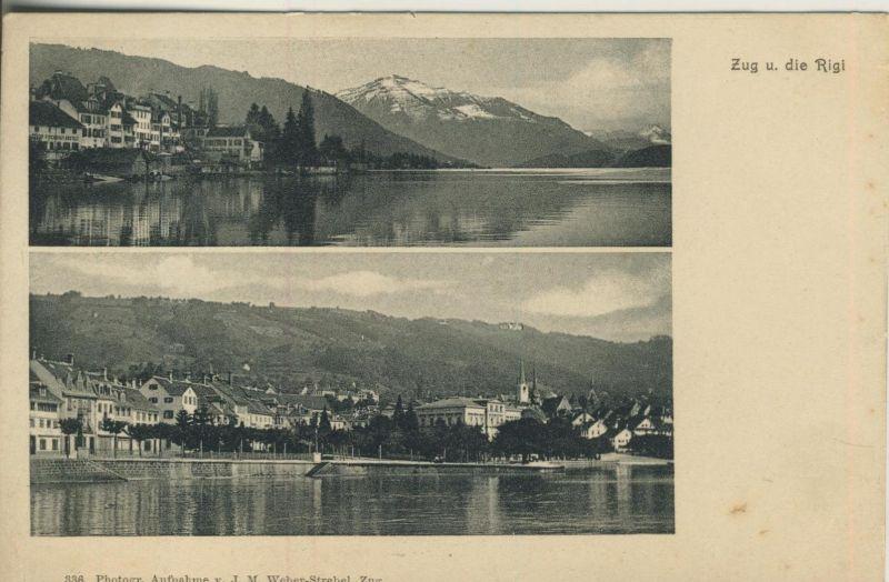 Zug v. 1910  Zug und die Rigi  (53282)