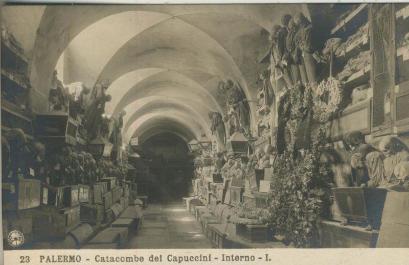 Palermo v. 1930  Catacombe de Capuccini - Interno -I.   (53833)