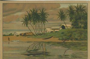 Kamerun v. 1936 Mündung des Kribi Flusses - siehe Foto !! (53981-126)