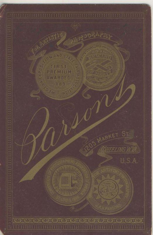 Fotokarte, Cassont,1205 Market Street,Wheeling W.VA.,von 1889  (53981-136)