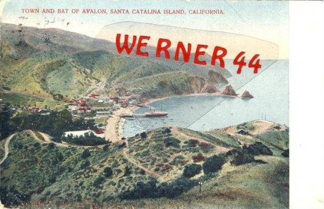 Santa Catalina Island,California v. 1908  Teil-Stadt-Ansicht  (26642-39)