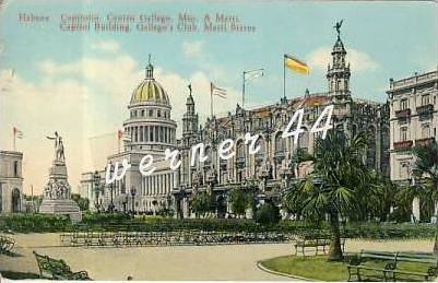 Habana / Republica de Cuba v. 1933 Capitol Building,Gallego`s Club, Marti Statue-  siehe Foto !!   (26688)