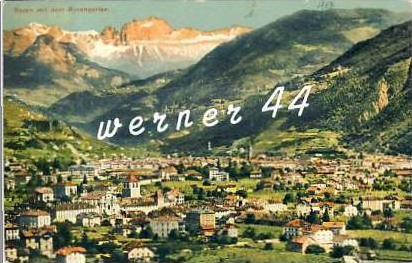 Bozen v. 1907  Stadt mit Rosebgarten- siehe Foto  (26760)