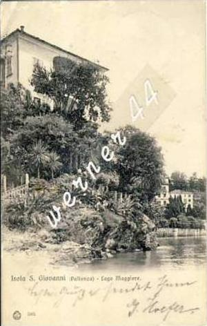 Isola S. Giovanni v. 1905  Lago Maggiore mit Villa  -  siehe Foto  (26761)