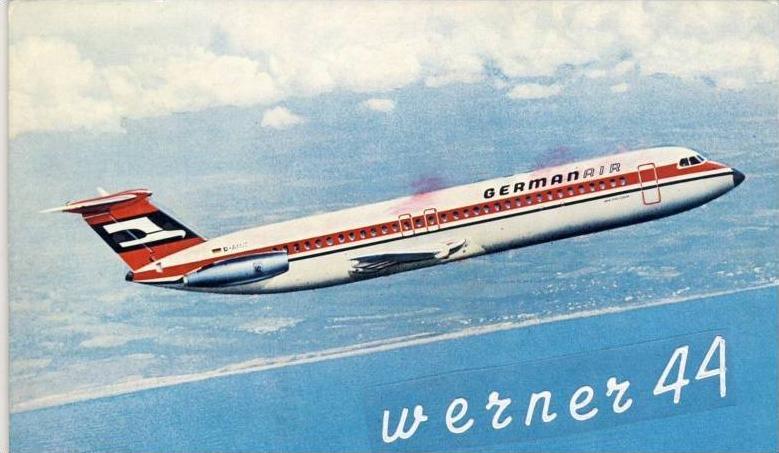 Germanair v. 1970 --  siehe Foto !!   (32099-28)