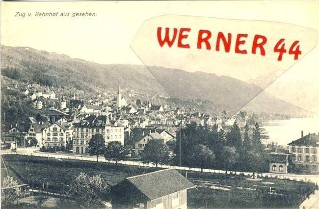 Zug v. 1909  Teil-Stadt vom Bahnhof aus gesehen  - siehe Foto !!  (36131)