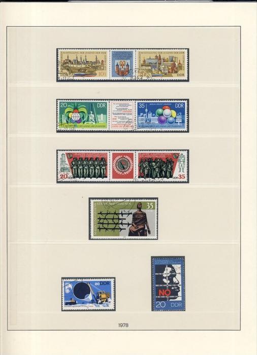 Briefmarkenausstellung der Jugend,Weltfestspiele,25 Jahre Kampfgruppen, usw. v. 1978  --  siehe Foto !!   (94)