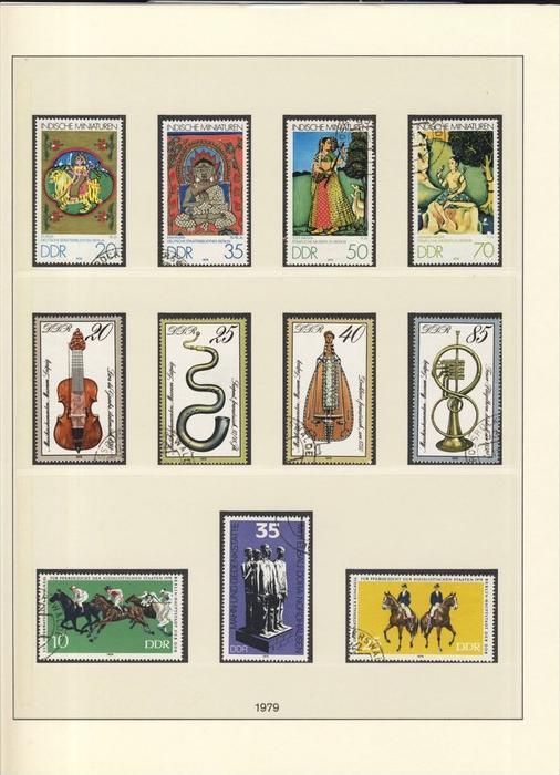 Indische Miniaturen,Instrumente,Kongreß fur Pferdezucht, v. 1979  --  siehe Foto !!   (102)