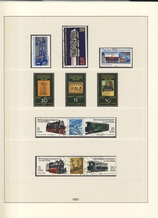 Schmalspurbahnen,Bibliotheken,Ehrenmal Saßnitz,Leipziger Messe,v. 1981  --  siehe Foto !!   (123)