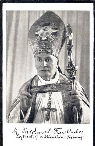Flattblatt von M. Cardinal Faulhaber --- sh. beschr.!!  (39001)