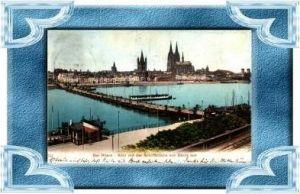 Köln v.1903 Schiffsbrücke v. Deutz (17347)