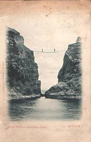 Rope Bridge,- Carrick-a-Rede v.1905 (16368) 0